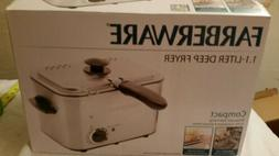 Farberware 1.1-Liter Stainless Steel Deep Fryer Compact Adj.