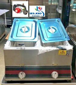 7 gallon Countertop double Deep Fryer FY4 GAS AND PROPANER