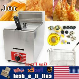10L Commercial Countertop Gas Fryer 1 Basket Liquefied Petro