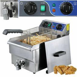11.7L Electric Deep Fryer w/ Drain Timer Commercial Countert