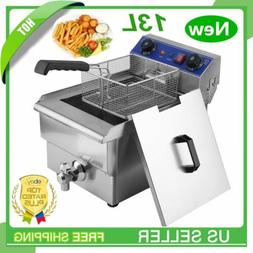 13l commercial restaurant electric deep fryer stainless