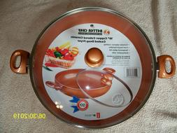 Better Chef 16 in. Copper Colored Ceramic Coated Deep Fryer