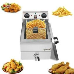 1700W Electric Deep Fryer 12L Commercial Stainless Steel Res
