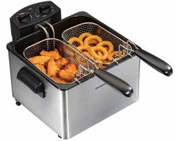 Hamilton Beach 1800W Electric Deep Fryer Double Basket Chick