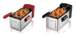 2 Liter Deep Fryer Adjustable Heat French Fries Onion Rings