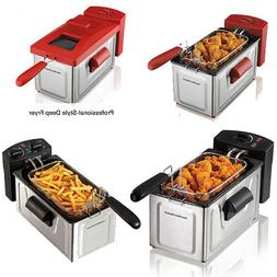 2 Liter Professional Oil Powered Deep Fryer Fast Cooking Wit