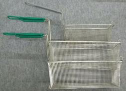 "2 New 65 LBS Deep Fryer Basket 17"" X 8 1/2""X 6"" plus FREE"