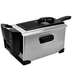 3 1/2 Quart 1600 W Stainless Steel Electric Deep Fryer