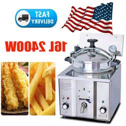 2400W 16L Commercial Electric Countertop 2~5 Chicken Pressur