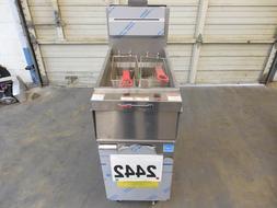 2442 - New S/D Vulcan PowerFry3 45 lbs deep fryer, 50% Gas S