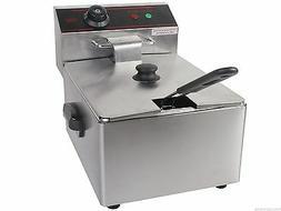 2500W 5.5L Single Electric Deep Fryer with Basket Scoop Unit