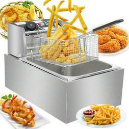 2500W 6.3QT Electric Countertop Deep Fryer Basket Restsauran
