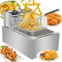 2500w 6 3qt electric countertop deep fryer