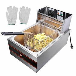 2500W 6L Commercial Electric Countertop Deep Fryer Basket Fr