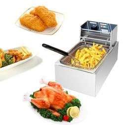 2500W Electric Countertop Deep Fryer Single Basket French Fr