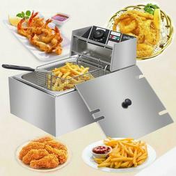 2500w electric deep fryer 6 liter commercial