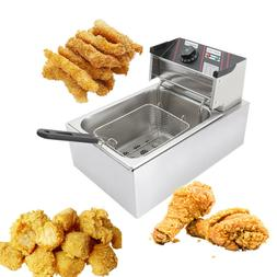 2500W Electric Deep Fryer 6 Liter Commercial Tabletop Restau