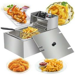 2500W 6L Electric Deep Fryer Stainless Steel Cooking Machine