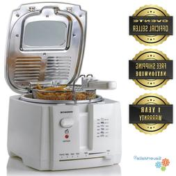 Ovente 2L Electric Deep Fryer Stainless Steel Removable Fry