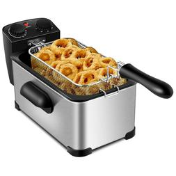 3.2 Qt Deep Fryer Stainless Steel Compact Small Mini Electri