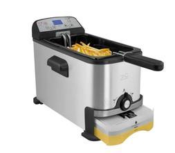 Kalorik 3.2 Quart Deep Fryer with Oil Filtration Stainless S