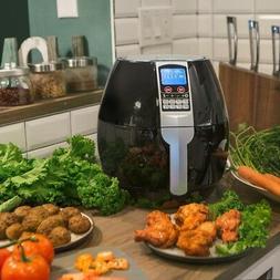 3.7QT 1500W Electric Air Fryer cooker 8 Cooking Menu Setting