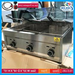 3 Burner Commercial Deep Fryer FY5Propane and Gas Use Coun
