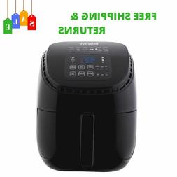 3 Qt. Black Digital Air Fryer With Touch LED Controls & 1300