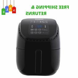3 Qt. Black Digital Air Fryer With Touch LED Controls & 1300