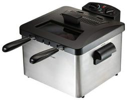 3 qt. Professional-Style Deep Fryer - Silver/Black