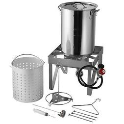 30 qt stainless steel turkey deep fryer