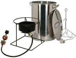 New King Kooker 30 Quart Turkey Fryer Stainless Steel Portab