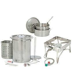 Bayou Classic 32 Quart Complete Stainless Steel Deluxe Turke