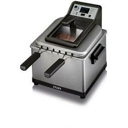 KRUPS 4.7 Qt. Professional Deep Fryer w/ 3 Frying Baskets an