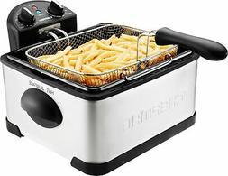 CHEFMAN - 4.8qt Deep Fryer - Stainless Steel