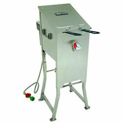 Bayou Classic 4 Gallon Propane Deep Fryer - Stainless Steel