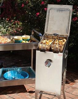 Bayou Classic 4-Gallon Deep Fryer Stainless Steel Outdoor Pr