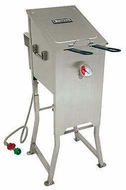 Bayou Classic 4 Gallon Stainless Steel Propane Deep Fryer 70