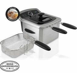 4 Liter Deep Fryer Electric Stainless Steel Double Baskets V