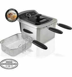 4 Liter Dual Deep Fryer Stainless Steel Frying Basket Handle