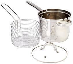 4 QT Stainless Deep Fryer Basket Set - Deep Fryer Kit - Stov