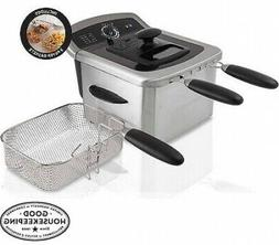 Farberware 4L Deep Fryer Stainless Steel w/ 2 Dishwasher Saf
