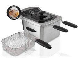 FARBERWARE 4L Dual Deep Fryer Stainless Steel Frying Basket