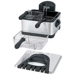 1700 Watts 4qt Electric Deep Fryer Cooker 3 Frying Baskets K