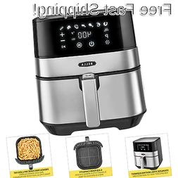 BELLA  5.3 Quart Touchscreen Air Convection Fryer, Black