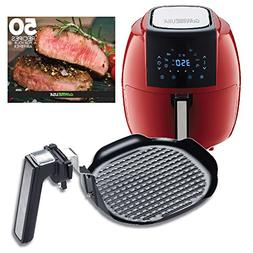 GoWISE USA 5.8-Quarts 8-in-1 Air Fryer XL+ Insert Grill Pan