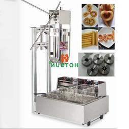 5L Commercial Vertical Manual Spanish Churros Machine W 12L