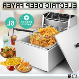 6.3QT Electric Single Deep Fryer Countertop Home Commercial