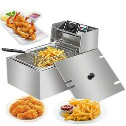 6L 2500W Electric Deep Fryer Commercial Restaurant Fast Food