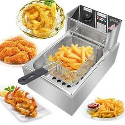 6L Electric Deep Fryer Commercial Restaurant Home Frie Stain